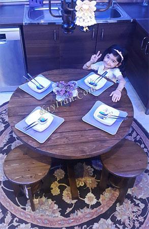 میز ناهار خوری چوبی - N115 5
