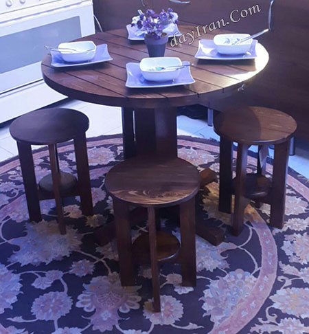 میز ناهار خوری چوبی - N115 6