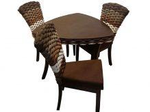 میز ناهار خوری سه نفره حصیری - N108