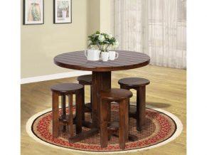 میز ناهار خوری چوبی گرد - N115
