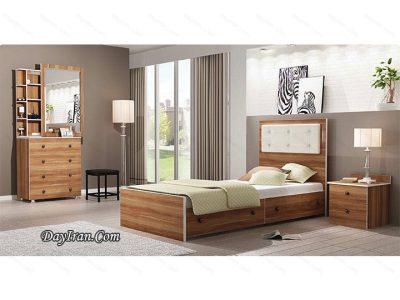 تخت خواب یک نفره چوبی کلارو
