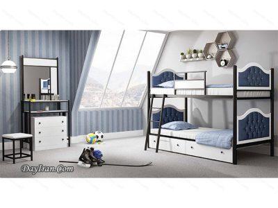 تخت خواب نوجوان دو طبقه سارینا