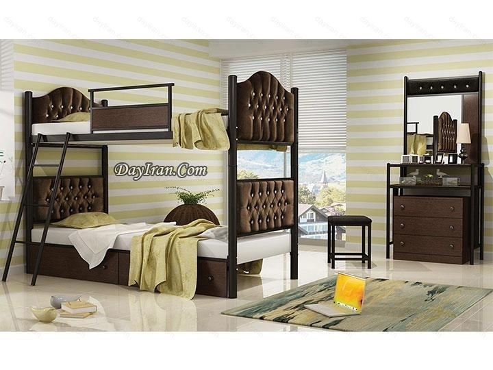 تخت خواب دو طبقه راما