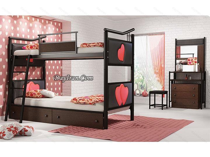 تخت دو طبقه نوجوان قلب