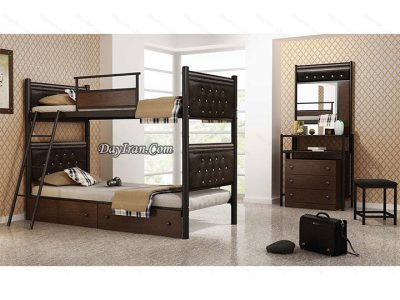 تخت دو طبقه سورنا - تخت خواب فلزی