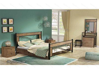 تخت خواب دو نفره فلزی ملودی