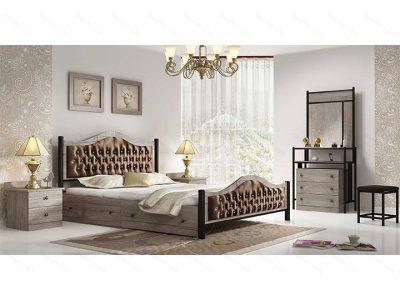 تخت خواب دو نفره فلزی سارینا