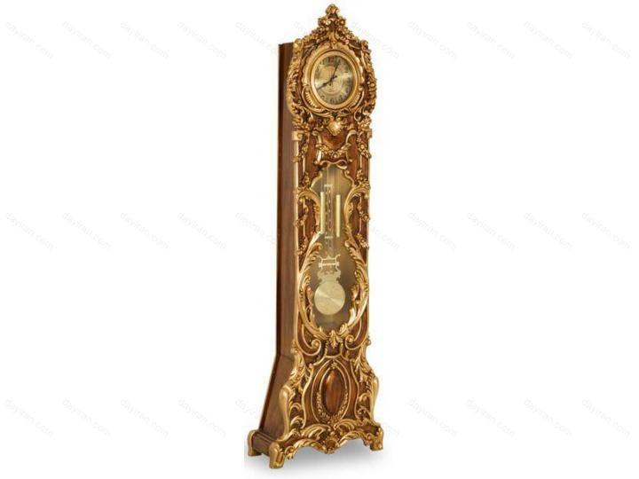 ساعت ایستاده طلایی فانتزی مصری