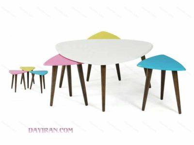 میز عسلی مثلثی