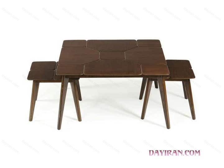 میز عسلی پازل مربع