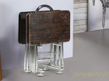 میز عسلی تاشو پایه فلزی
