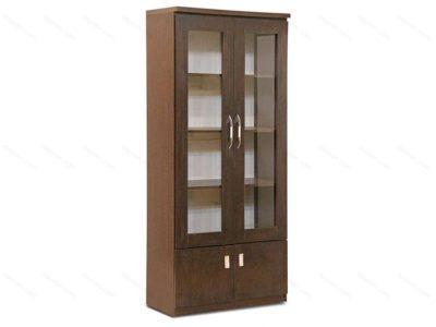 کتابخانه چوبی قابدار 4 درب