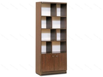 کتابخانه چوبی زیگزاگ