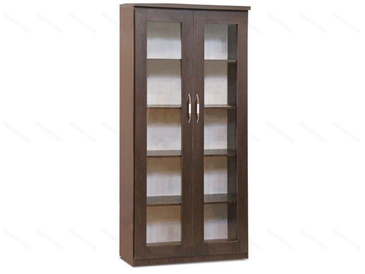 کتابخانه چوبی قابدار دو درب