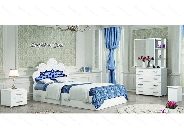 تخت خواب یک نفره دخترانه