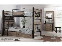تخت خواب دو طبقه فلزی ملودی