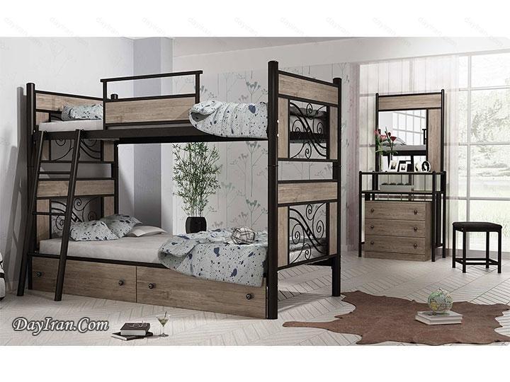 تخت خواب دو طبقه ملودی