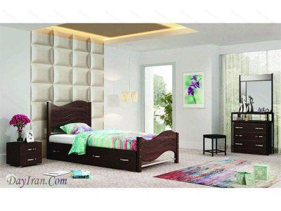 تخت خواب یک نفره ماندانا - تخت خواب فلزی
