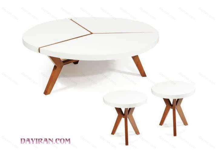 میز جلو مبلی گرد پازلی