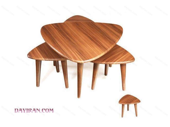 میز جلو مبلی پایه خراطی مثلث