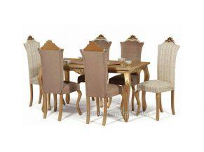 میز ناهارخوری سلطنتی ارکیده شش نفره