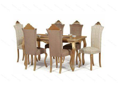 میز ناهارخوری سلطنتی 6 نفره