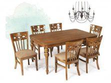 میز غذاخوری چوبی نگین