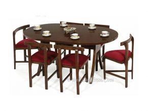 میز ناهارخوری کم جا شش نفره آرین