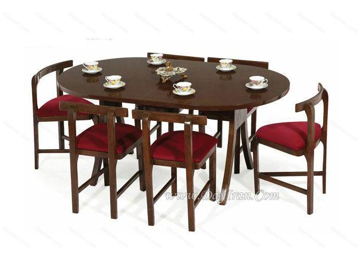 میز ناهار خوری کم جا شش نفره آرین