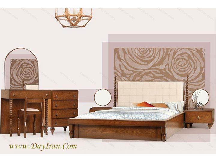 سرویس خواب چوبی نیکا