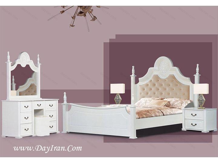 سرویس خواب عروس سفید فلور