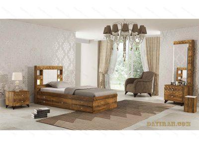 تخت خواب چوبی کارولین