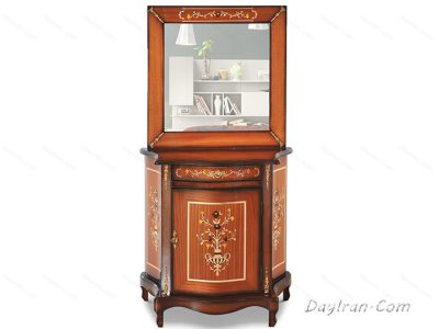 آینه کنسول چوبی معرق