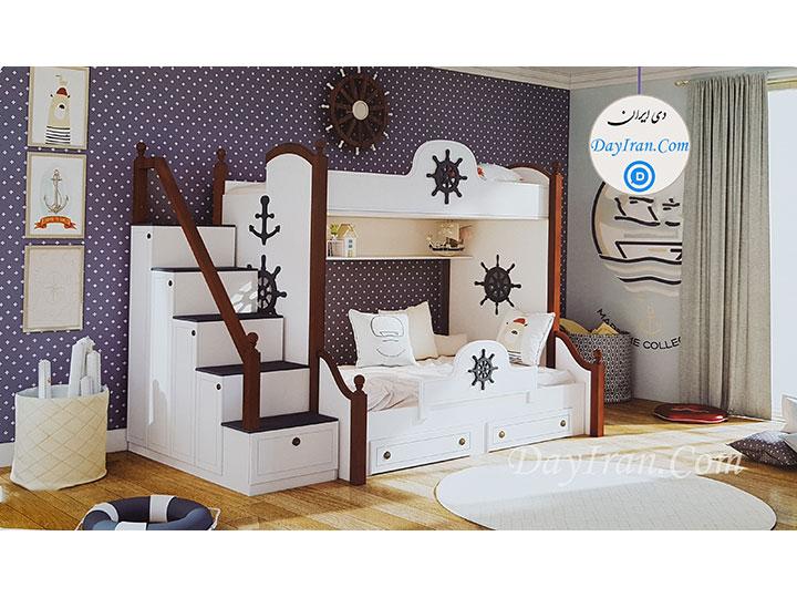 تخت خواب نوجوان دو طبقه ملوان