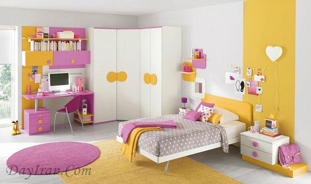 رنگ اتاق خواب دخترانه