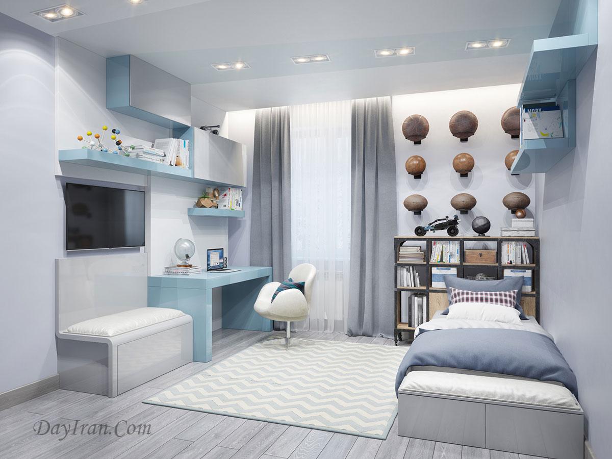 طراحی دکوراسیون اتاق خواب پسرانه