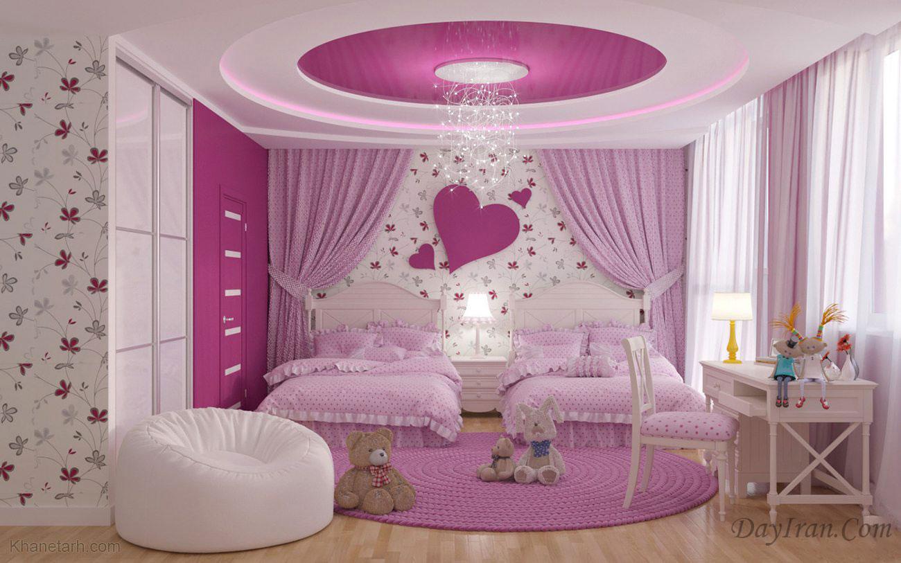 کناف اتاق خواب دخترانه