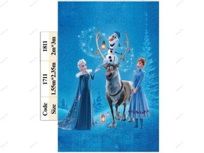 روفرشی کشدار طرح ملکه یخی1711