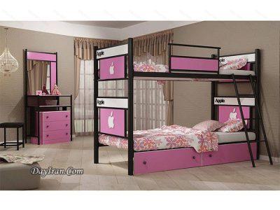 تخت خواب دو طبقه اپل