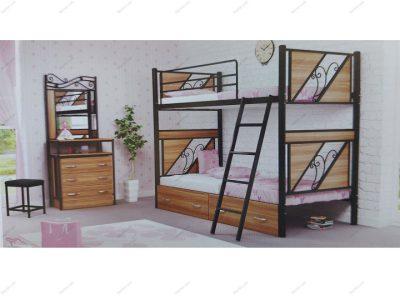 تخت خواب دو طبقه کلاسیک