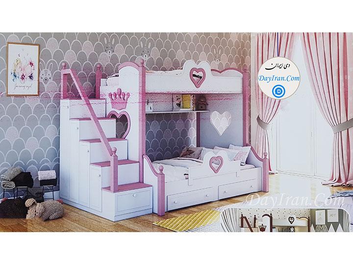 تخت خواب دو طبقه قلب 2
