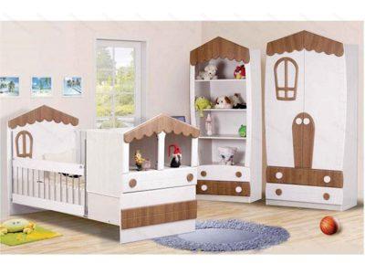 تخت خواب نوزاد کلبه