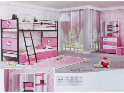 تخت خواب دو طبقه ماکدار ساده