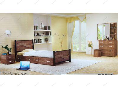 تخت خواب یک نفره موج سی ان سی