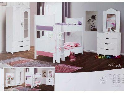 تخت خواب دو طبقه رادین