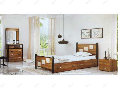 تخت خواب یک نفره مربعی