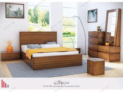 تخت خواب دو نفره روژان