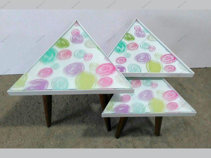 میز عسلی مثلثی 3